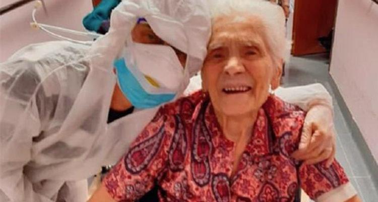 À 104 ans , Cette italienne devient  la personne la plus âgée au monde à avoir survécu au coronavirus