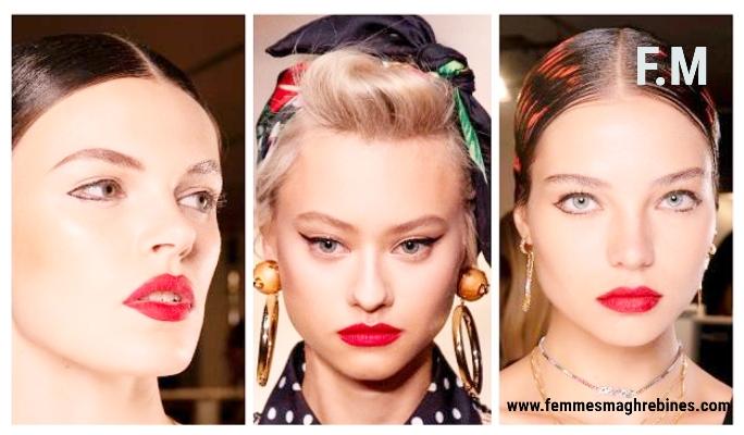 Tendances 2020 : Le rouge sensuel sur les lèvres est toujours le bon choix