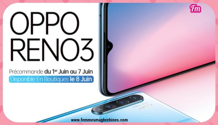 Le nouvel OPPO Reno 3 est désormais disponible en pré-commande au prix de 1099 DT