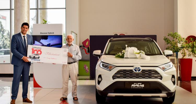 BSB TOYOTA célèbre le 100ème RAV4 HYBRIDE vendu en Tunisie