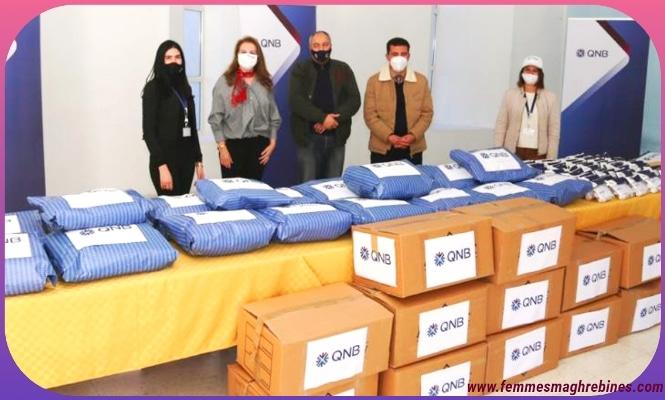 La QNB accompagne les enfants de Thala «pour un hiver au chaud»