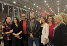 Les acteurs et l'équipe de réalisation de la série ELFoundou au Laico Tunis pour la célébration du dernier épisode