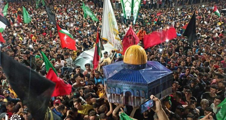 مسيرات الفرح والإشادة بنصر المقاومة تعم فلسطين